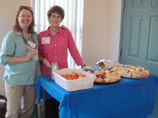Refreshments served at the Women's Health Project's community event