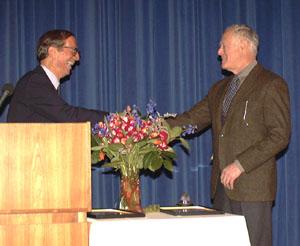 Senator Roy Goodman presenting award, Photo by Mark Schmidt
