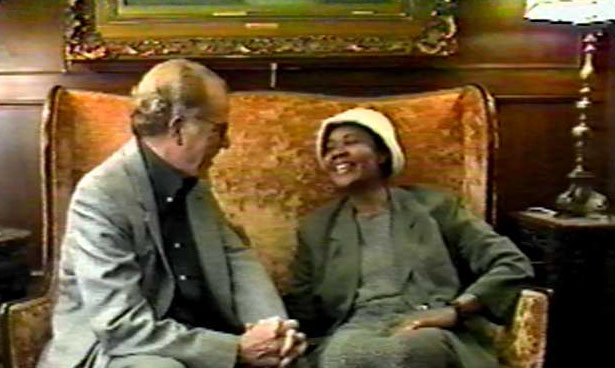 William Kennedy with Jamaica Kincaid