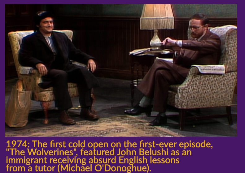 1974. The first cold open on the first-ever episode,