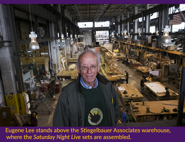Eugene Lee stands above the Stiegelbauer Associates warehouse, where the
