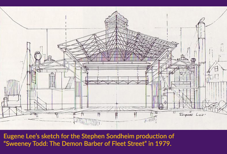 Eugene Lee's sketch for the Stephen Sondheim production of Sweeney Todd in 1979