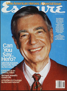 Cover of Esquire featuring Tom Junod story on Mr. Rogers